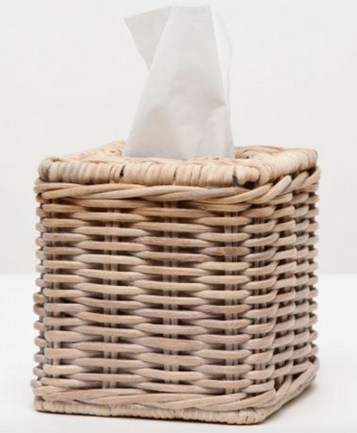 Two Tone Wicker Tissue Box