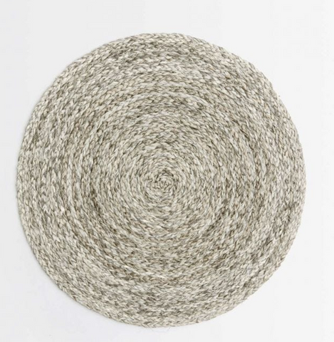 Zoey Gray Round Placemat