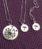 Mother Daughter Necklace Set - Dandelion Mother Daughter Jewelry - Silver Necklace Set - Mommy and Me necklace - Mother's day gift - Mom - Designs By Tera