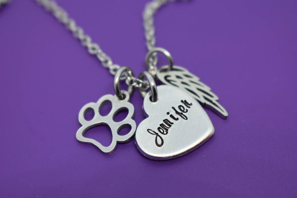 Pet Memorial Jewelry, Personalized Dog loss Gifts Necklace, Cat Remembrance, Fur Baby, In Memorial - Designs By Tera