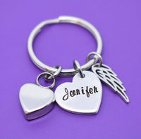 Memorial Gift - Keychain - Urn - Cremation - Personalized - Remembrance - Sympathy  Gift - Loss - Designs By Tera