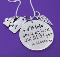 Personalized Pet Memorial Jewelry, Dog loss Sympathy Gifts Necklace, Cat, Sterling silver - Designs By Tera
