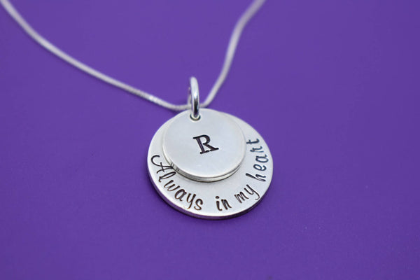 Memorial Jewelry, Remembrance  Necklace ,Sympathy gift, always in my heart, loss if child , miscarriage necklace, silver - Designs By Tera