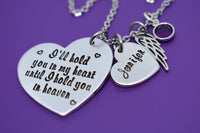 Memorial Gift Personalized - I'll hold you in my heart NecklaceMemorial Jewelry - Loss of Loved One - Remembrance Keepsake - Designs By Tera