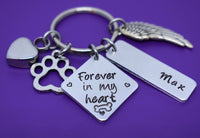 Urn - Cremation Pet Memorial Jewelry - Dog Memorial Keychain - Pet Loss Gift - Forever in my Heart - In Memory of Dog. - Designs By Tera