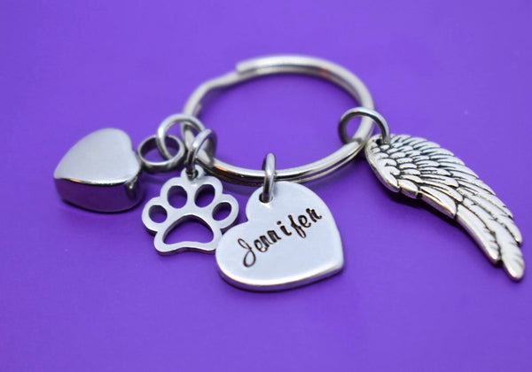 Pet Urn - Cremation Keychain Pet Memorial Gift - Personalized Pet loss Gifts Keychain - Dog - Cat - Jewelry - Dog Remembrance - Fur Baby - Designs By Tera