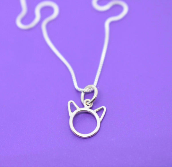 Pet Jewelry Necklace - Cat Necklace - Sterling Silver Necklace - Cat Jewelry - Delicate  Jewelry - Tiny Charm Pendant Necklace - Designs By Tera