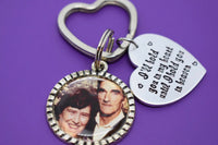 Photo Keychain - Memorial Keychain - Picture Keychain - I'll hold you in my heart - Photo Memorial - Rememberance - Sympathy gift - Memorial - Designs By Tera