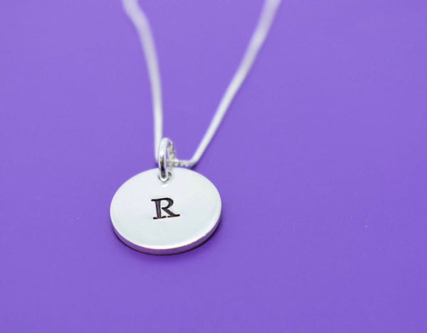 Personalized Gift for mom Personalized Initial Necklace Letter Necklace For Women Jewelry Custom Charm Necklace Initial Jewelry Sterling - Designs By Tera