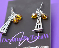Oilfield Wife Jewelry - Oilfield Wife Necklace - I have his heart, and the rig has him - Gift for Oilfield Wife - Oil Derrick Charm - Designs By Tera