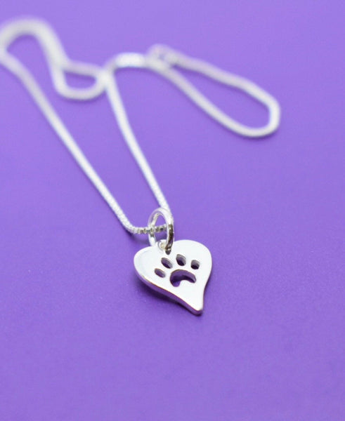 Pet Jewelry  Necklace - Dog Cat Necklace - Sterling Silver Necklace - Dog Cat Jewelry - Delicate  Jewelry - Tiny Charm Pendant Necklace - Designs By Tera