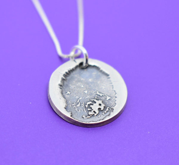 Memorial Necklace, Actual Fingerprint Jewelry, Remembrance, personalized loss of loved one - Designs By Tera