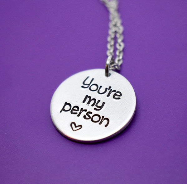 You're  my person - Best Friend Necklace - Anatomy - You're my person necklace - Youre my person jewelry - Gift for Friend - Designs By Tera