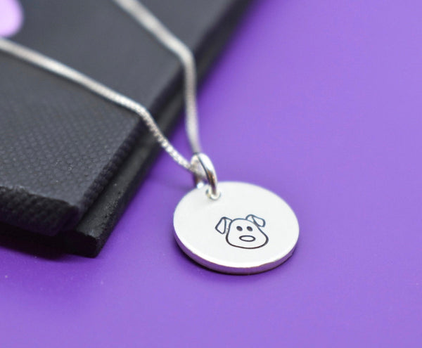 Pet Memorial Gift - Tiny Sterling silver minimalist necklace Pet loss Gift Dog - Cat, Jewelry, Remembrance, Fur Baby, In Memorial, Sympathy - Designs By Tera