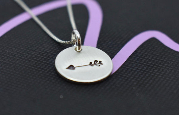 Graduation Gift, Sterling Silver small Minimalist Necklace Follow your arrow, jewelry - Arrow - Motivation - Gift for graduation - Designs By Tera