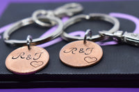Personalized Penny Keychain Boyfriend Gift, Penny Anniversary Gift for Men - Valentines Gift - Couples Keychain Set - Money Keychain - Designs By Tera