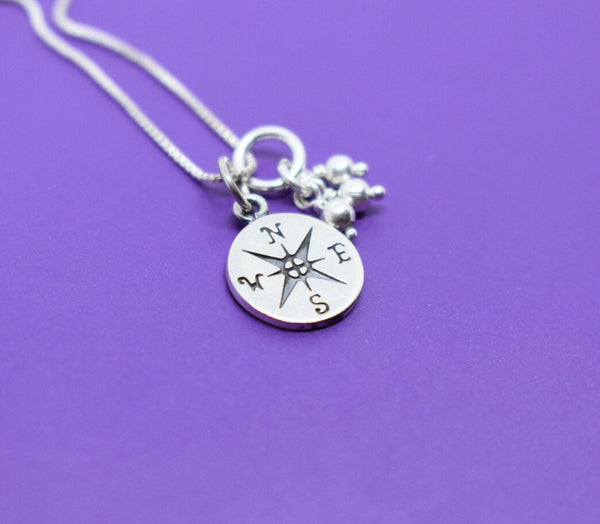 Graduation Gift - Sterling Silver Graduation Necklace - Graduation Jewelry Necklace  - Personalized Graduation - Compass - Gift for graduat - Designs By Tera