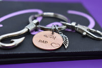 Memorial Jewelry Dad, Remembrance Gift Penny Keychain, Personalized fishing, sympathy gift - Designs By Tera