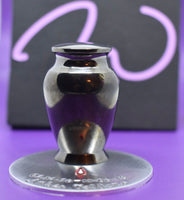 Urn for ashes, personalized , small urn, cremation, with name  and birthstone - Designs By Tera