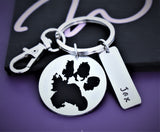 Pet paw Dog Memorial Keychain, pets paw print cat animal- Memorial Jewelry Paw Print, Rainbow Bridge Keychain vinyl - Designs By Tera