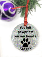 Personalized Pet Memorial Ornament, Dog Sympathy Gift, Loss of Pet Gift, Remembrance Ornament, Pet Owner Gifts, In Memory of Dog, Christmas - Designs By Tera
