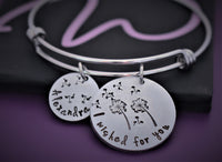 Mom Bracelet - Mother's Day gift -  Dandelion - Gift For Mom - Gift for Grandma - Mom Jewelry - Mother - Designs By Tera
