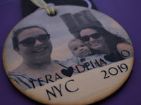 Photo christmas ornament, personalized actual picture ornament on wood, keepsake, memorial gift 4 inch light weight wood ornament, gift - Designs By Tera