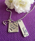 Pet Memorial Jewelry - Personalized Cat Memorial Necklace - Pet Loss Gift - Personalized Pet Remembrance Jewelry - Forever in My Hea - Designs By Tera