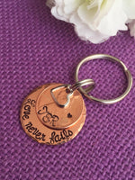 Anniversary Gift for Men - Valentines Gift - Anniversary Gift - Couples Keychain - Personalized Keychain - Penny Keychain - Wedding Gift - G - Designs By Tera