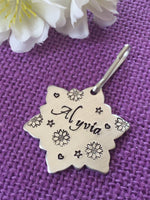 Backpack ID Tag - Personalized Zipper Pull - Backpack / Lunchbox Pull Tag - Back to school - Snowflake name tag - Tag for Kid - Custom Tag - Designs By Tera