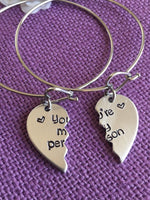 You're my person Bracelets - Best Friend Jewelry - Anatomy quote - BFF Jewelry - Youll always be my person - Designs By Tera