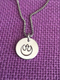Star Wars Jewerly Jedi Necklace Rebel Alliance Bracelet - Rebel Logo - Jedi Logo - Star Jewelry - Wars Jewelry - Geek - Designs By Tera