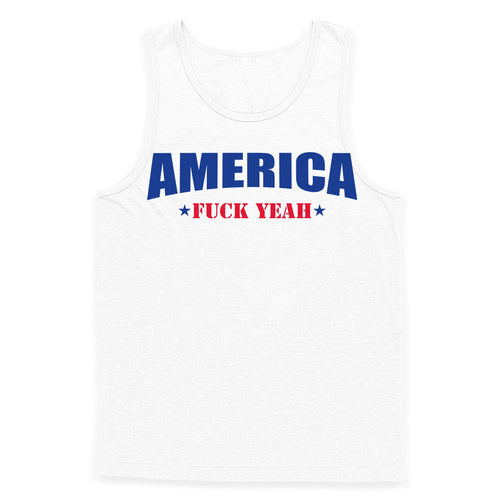 America Fuck Yeah Text Tank Top