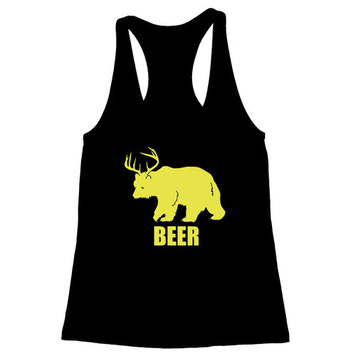 Bear + Deer = Beer Women's Racerback Tank
