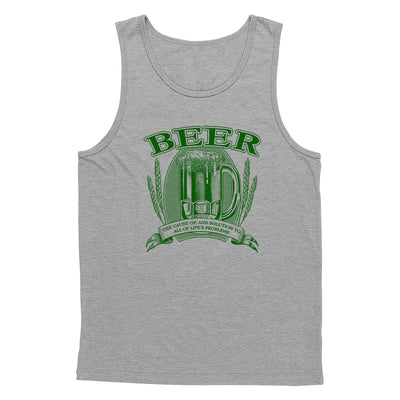 Beer, Cause and Solution Tank Top