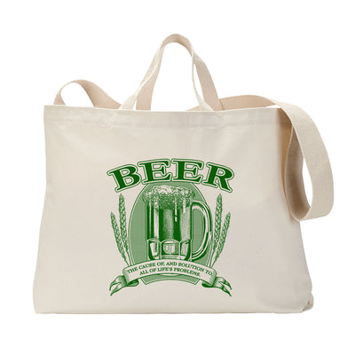 Beer, Cause and Solution Tote Bag