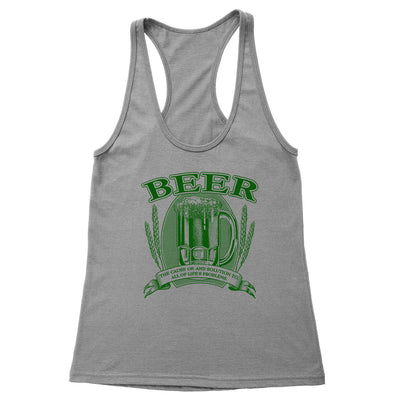 Beer, Cause and Solution Women's Racerback Tank