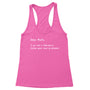 Dear Math Women's Racerback Tank