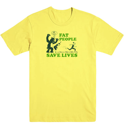 Fat People Save Lives Men's Tee