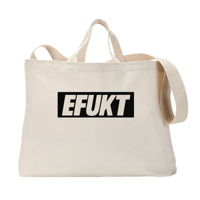 Black EFUKT Logo Tote Bag