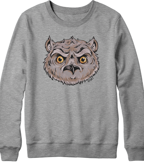 Owl Head Crewneck Sweatshirt