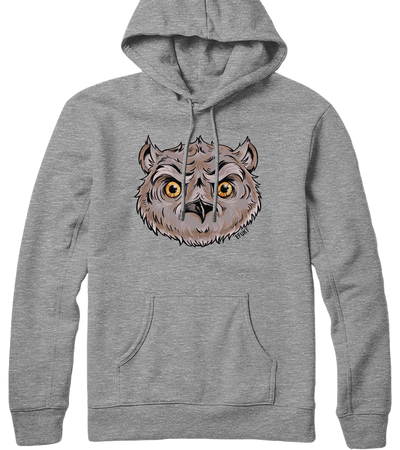 Owl Head Hooded Sweatshirt