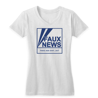 Faux News Women's V