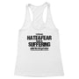 Hate&Fear Leads to Suffering Women's Racerback Tank