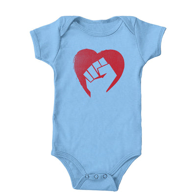 Hearts and Fists Onesie