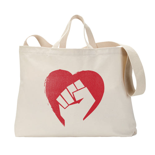 Hearts and Fists Tote Bag