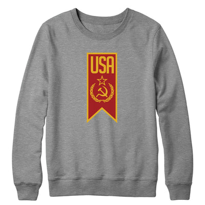 Red USA Crewneck