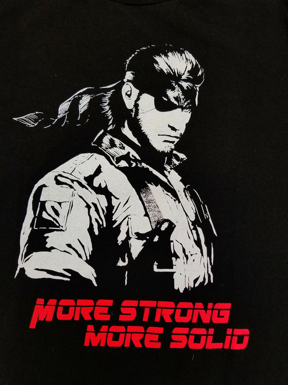 Original art in the likeness of Solid Snake from Metal Gear Solid with a black background