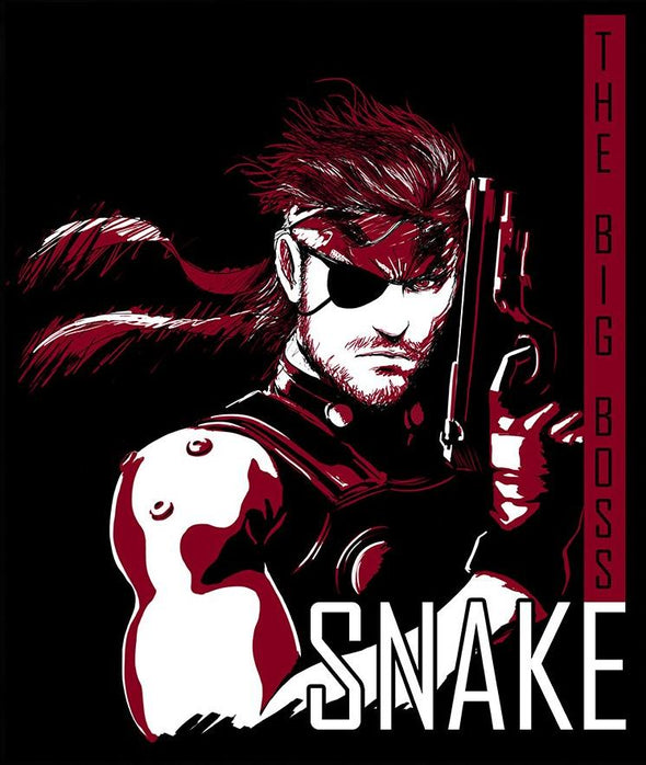 Original image in the likeness of Snake from Metal Gear Solid with black background