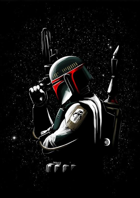 Original image in the likeness of Boba Fett